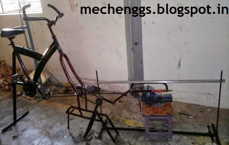 Fabrication Of Pedal Powered Dual Chain Hacksaw Machine