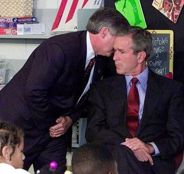 Ultimate Collection Of Rare Historical Photos. A Big Piece Of History (200 Pictures) - Bush after 9/11