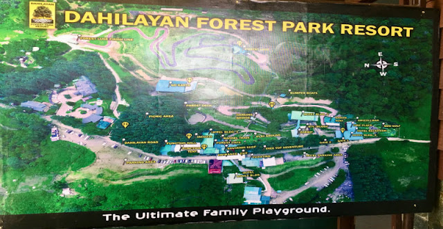 Dahilayan Forest Park Directory Map