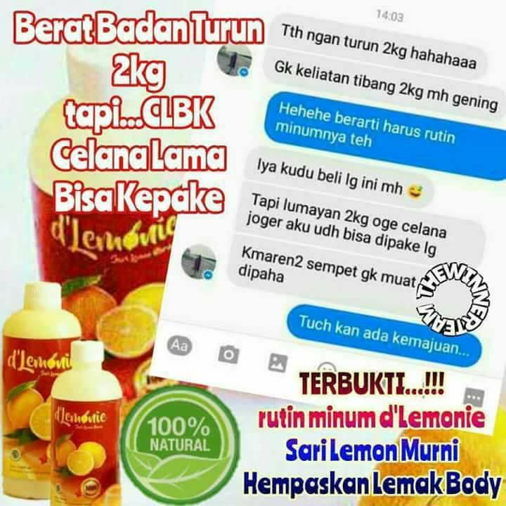 obat pelangsing alami   sari lemon dlemonie   distributor dlemonie   wa 085223746618