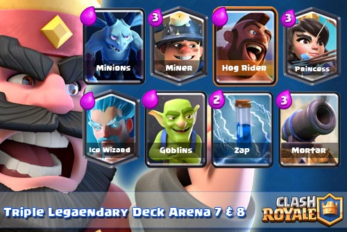 Kombinasi Legendary Deck Arena 7 8 Clash Royale