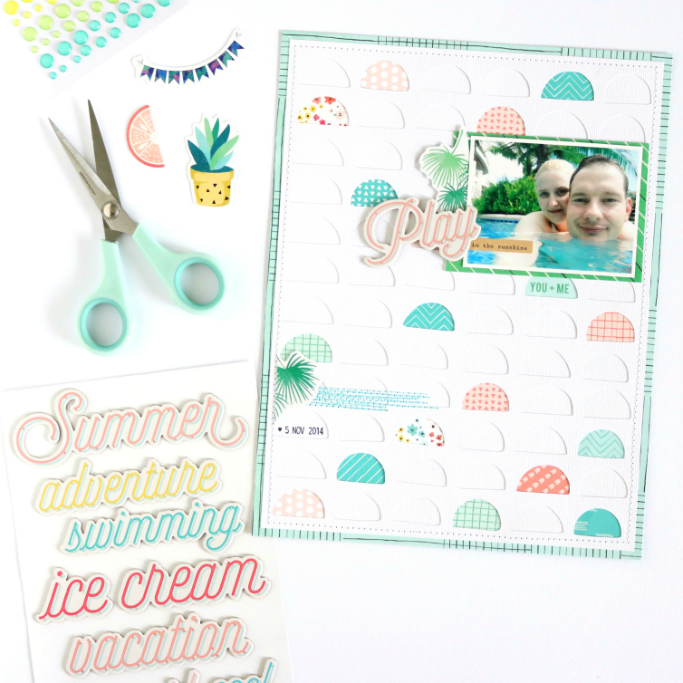 Play in the Sunshine | Scrapbooking Layout | @evelynlafleur