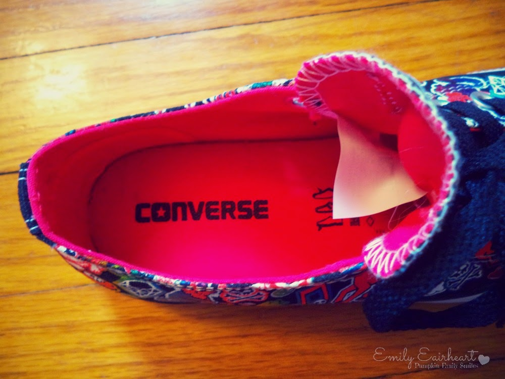 The inside of the Converse shoe
