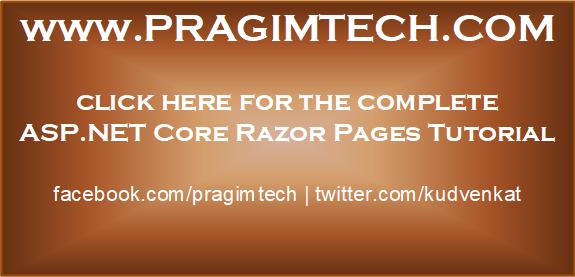 asp.net core razor pages tutorial
