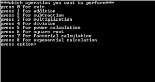 simple calculator source code c++ using while loop functions and switch