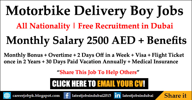 Delivery Driving jobs in Dubai 2017