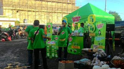 Tantangan Bersih Scotch-Brite di Pasar Citeureup Bogor