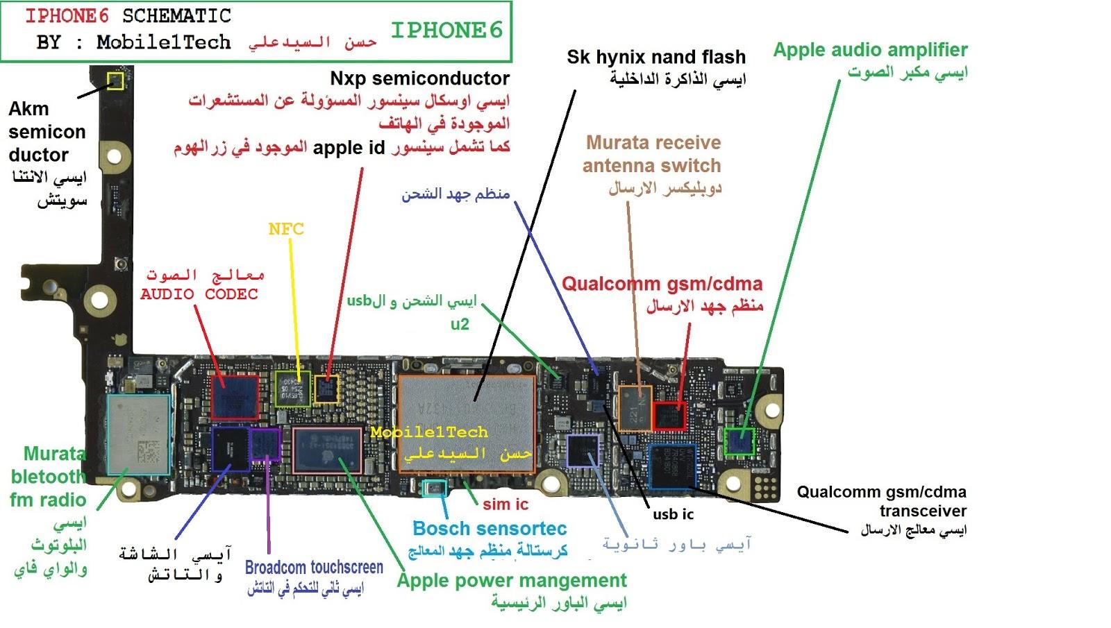 mobile1tech  u062d u0633 u0646  u0627 u0644 u0633 u064a u062f u0639 u0644 u064a  iphone 6 schematic