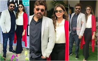 Yasir Nawaz and Nida Yasir spotted at an Event
