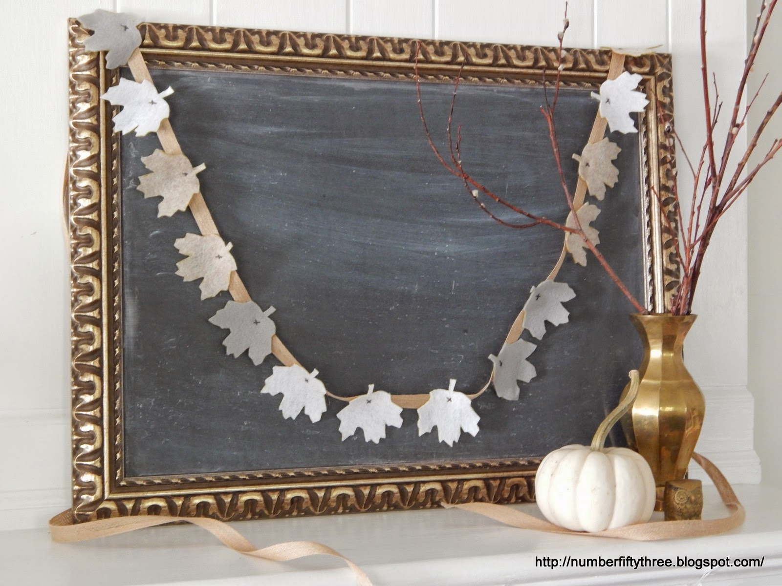Love ow this fall garland is displayed
