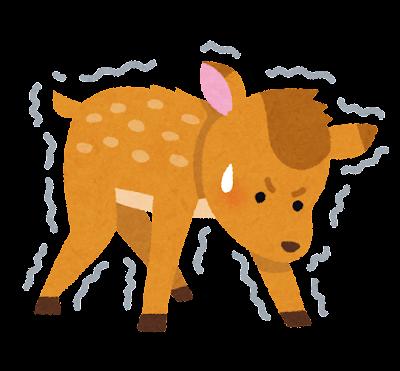 生まれたての子鹿のイラスト