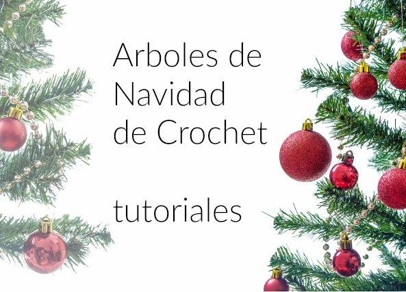 arboles de navidad a crochet
