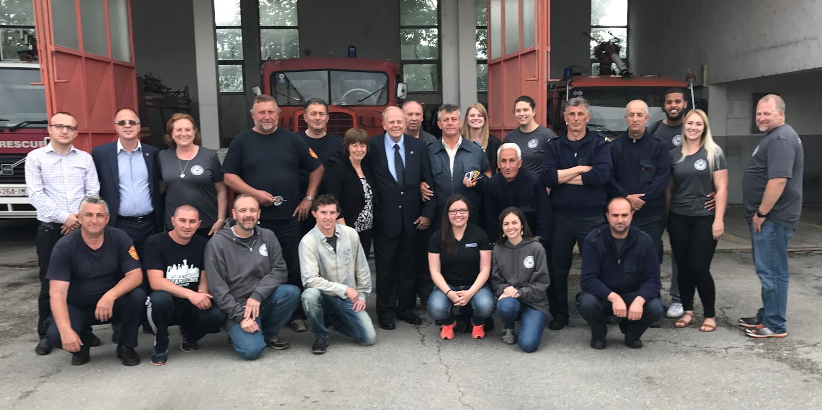 UVU students meet Macedonian firefighters