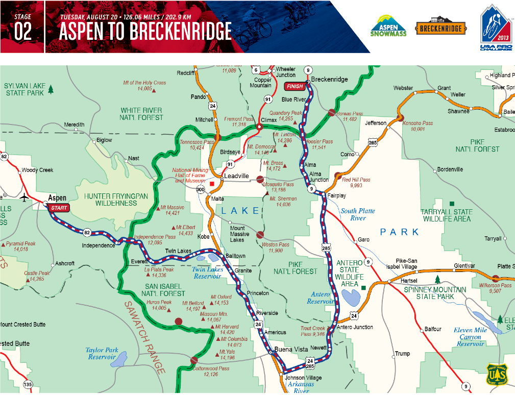 Us Pro Cycling Challenge 2012 Route Map USA Pro Challenge in Breckenridge   Pedal Dancer®