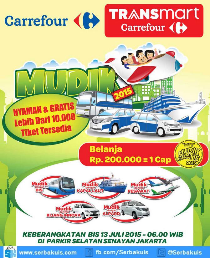Mudik Gratis 2015 Bersama Carrefour 10 Ribu Tiket Lebih