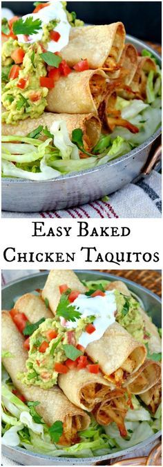 Delicious Baked Chicken Taquitos
