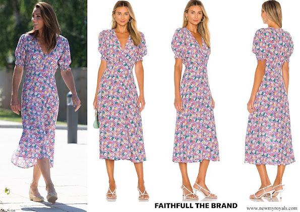 Kate Middleton FAITHFULL THE BRAND Marie Louise Midi Dress