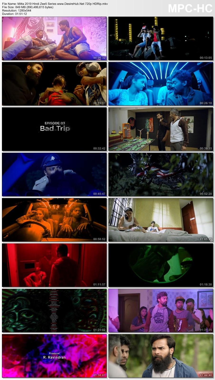 Screen Shoot of Mitta (2019) Hindi Complete ZEE5 Originals Series 720p WEB-DL 800MB