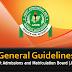 JAMB General Guidelines on Purchase of Forms & Admission 2019/2020