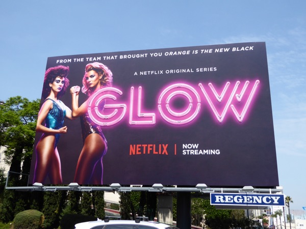 GLOW neon sign special installation billboard Sunset Strip