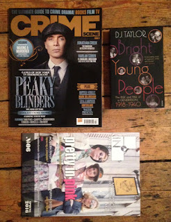 Crime Scene magazine, In Retrospect magazine, and Bright Young People by DJ Taylor