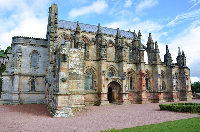 A picture of Rosslyn Chapel after restoration work was finished