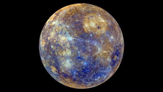 Mercúrio com cores - Planeta Mercúrio Colorido