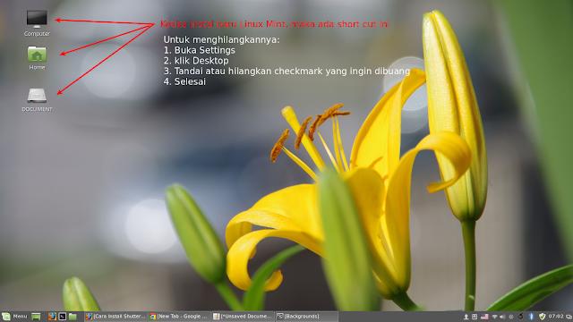 cara menghilangkan icon desktop linux mint cara membersihkan icon di desktop linux