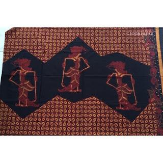 Kain Batik Soga Genes Wayang
