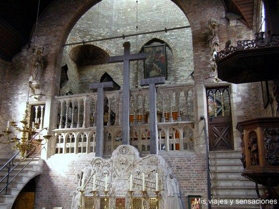 Interior de la Iglesia de Jerusalén, Brujas, Bélgica