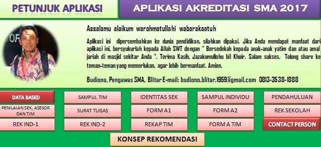 Aplikasi Skoring Akreditasi SMA/MA Tahun 2017 Format Excel