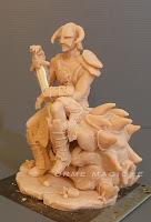 action figure statuette scolpite dipinte a mano guerriero fantasy da colorare orme magiche
