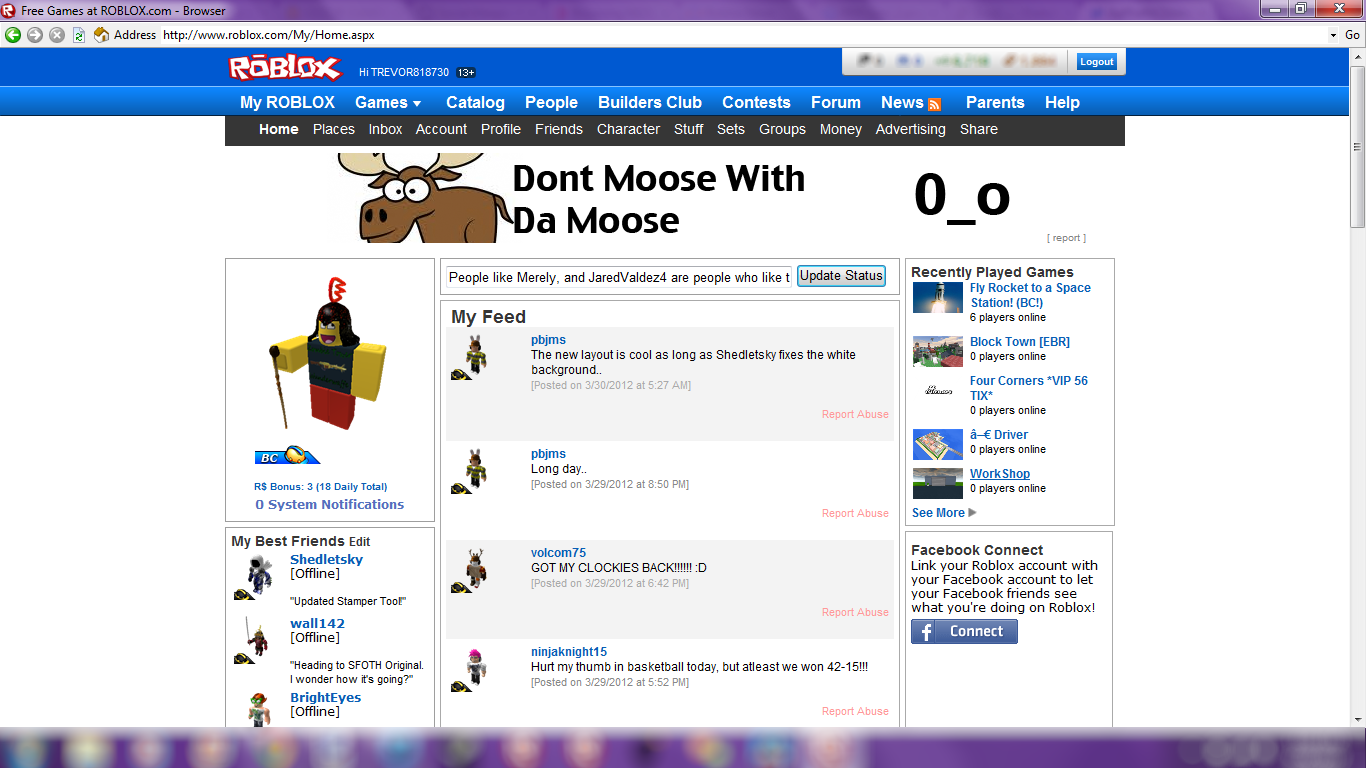 Roblox News March 2012