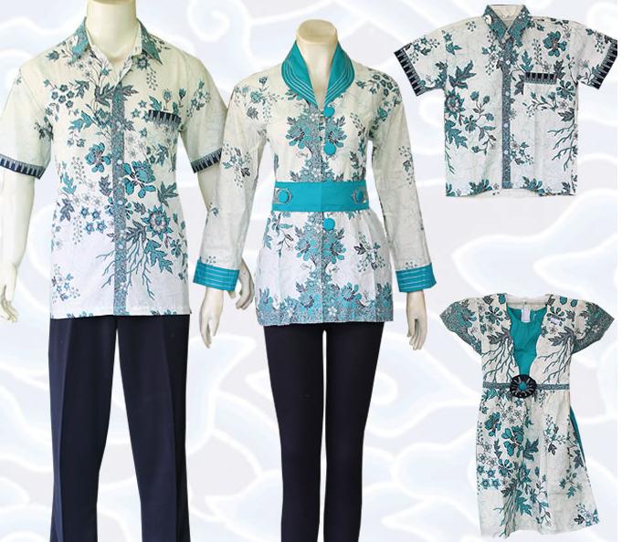 30 Gambar Baju Batik Untuk Kerja Dan Pesta: Model Baju Batik Sarimbit Untuk Pakaian Seragam Keluarga