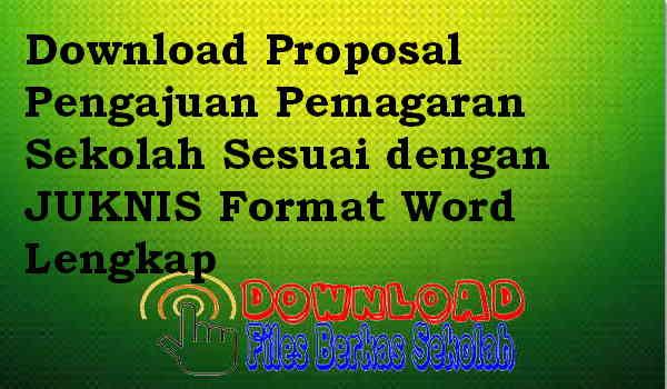 Download Proposal Pengajuan Pemagaran Sekolah