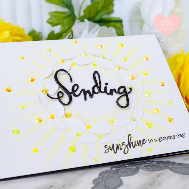 Sending Sunshine Card for Simon Says Stamp Sending Sunshine Release by ilovedoingallthingscrafty
