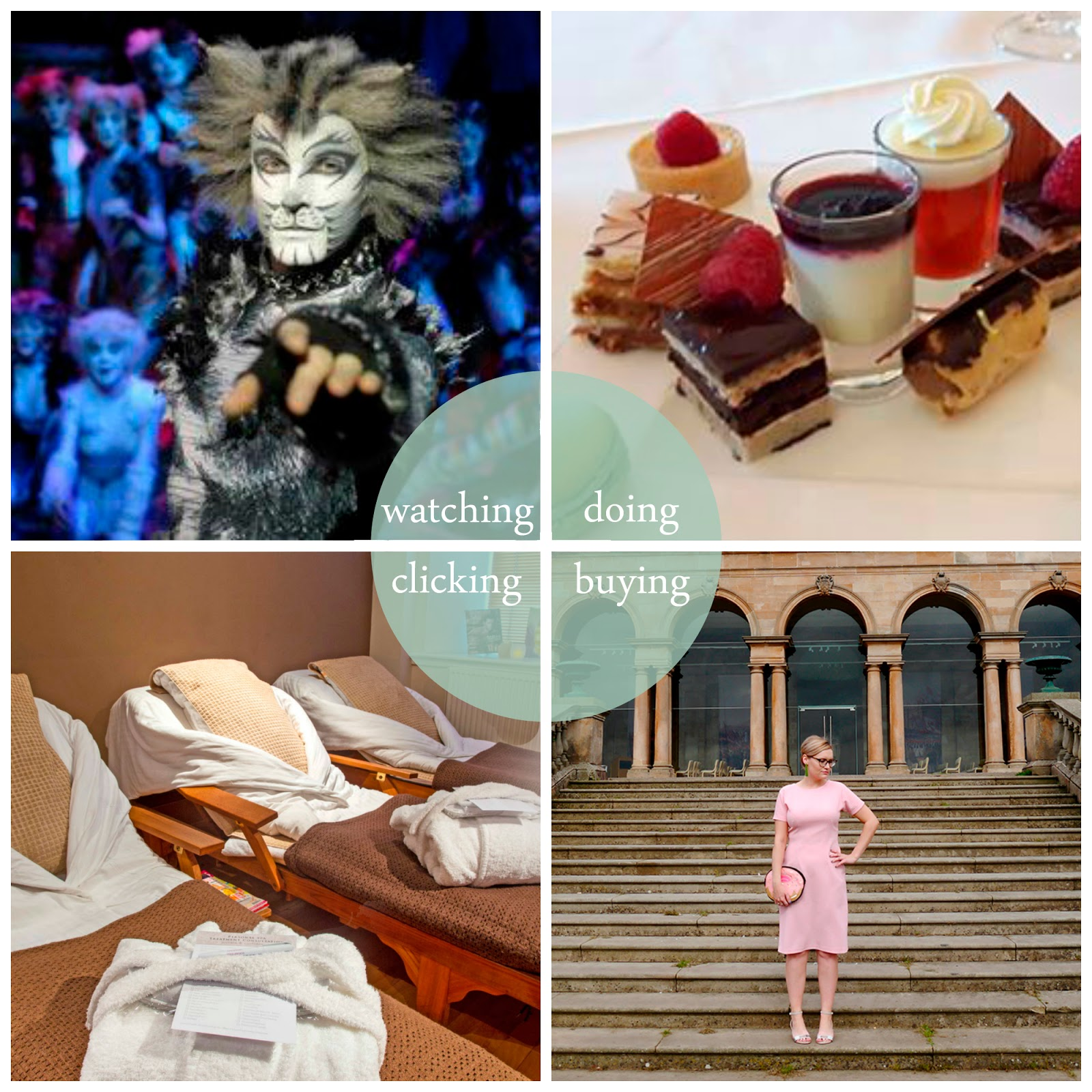 Round up, best bits, September 2016, blogger best bits, September highlights, blogger highlights, Scottish bloggers, Scottish blogging duo, Cats, Cats the musical, CATs Kings Theatre Glasgow, Afternoon tea, Vintage Weigh and Pay, Vintage dress, Dundee Weigh and Pay, The Roxburghe Hotel, The Roxburghe Spa, Gleneagles