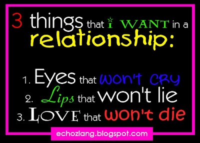 3 things that i want in a relationship