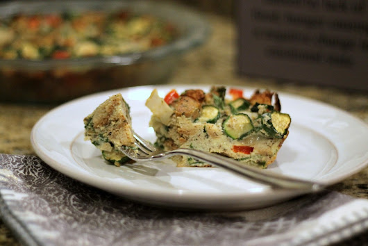 {Gluten and Dairy Free Chicken and Vegetable Strata on Minneapolis Running}