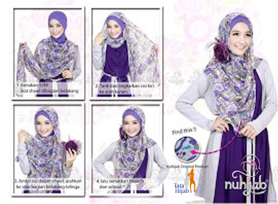 23+ Gambar Keren Tutorial Hijab Elzatta Pashmina Paling