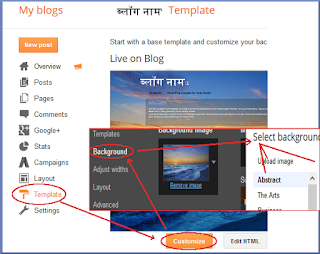 Hindi blog designs