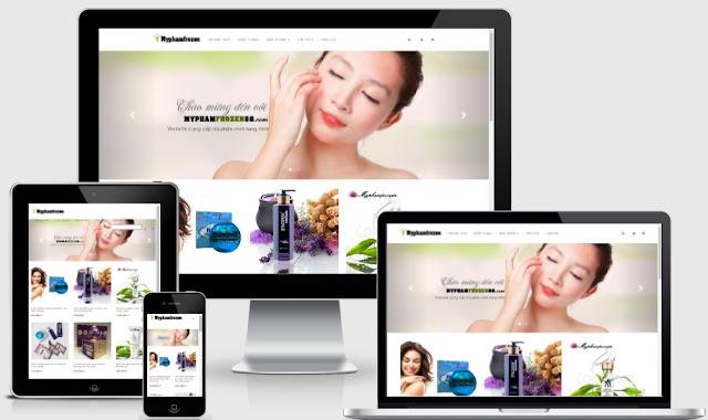 Templates blogspot bán hàng mỹ phẩm chuẩn seo - Ảnh 1