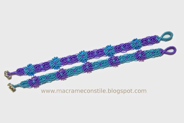 macrame bracciali gemelli azzurri dimensione intera