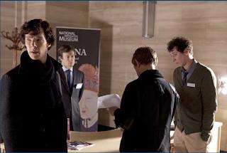 Benedict Cumberbatch and Martin Freeman as Sherlock Holmes and John Watson in BBC Sherlock Season 1 Episode 2 The Blind Banker