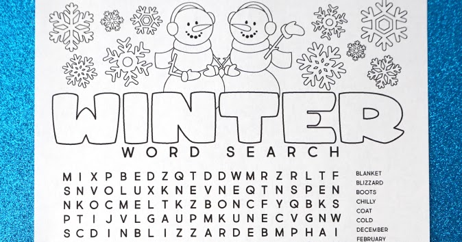 winter words ctivities coloring pages - photo#46