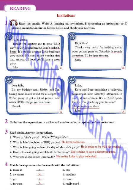 8. Sınıf İngilizce Tutku Yayınları Ders Kitabı Cevapları