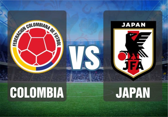 World Cup Group H fixture between Colombia and Japan