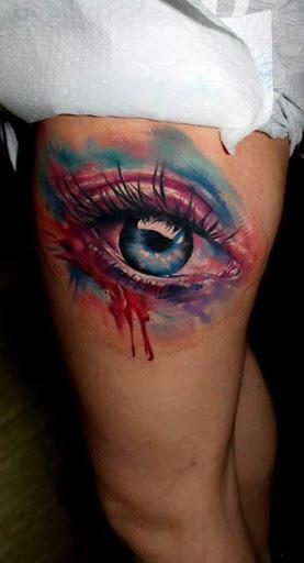 Este grande aquarela do olho