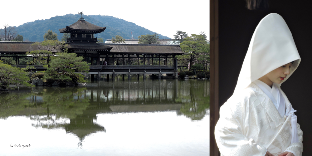 Bride at Heian Shrine Garden in Kyoto by betitu's quest