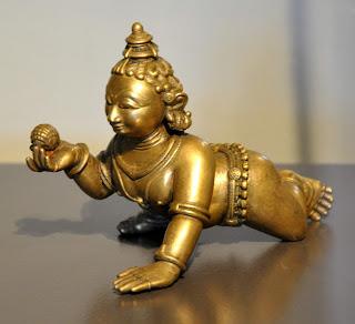 Infant Krishna holding a ball of butter. Orissa, c. 1800 CE, bronze. Museum Rietberg, Zurich